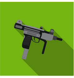 uzi weapon icon flate single weapon icon from the vector image vector image