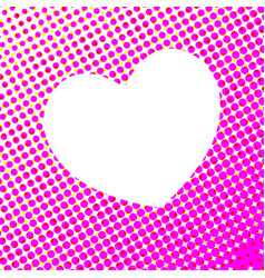 white heart on pink spot abstract vector image vector image