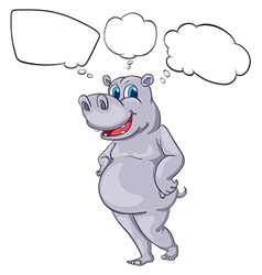 A hippopotamus vector