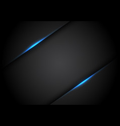 abstract blue light line shadow on black blank vector image