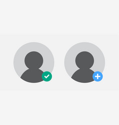 add and approve a group chat join icon design vector image