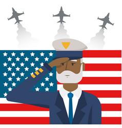 Airforce man design vector
