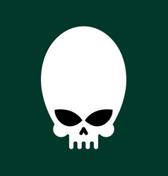 alien skull isolated ufo head skeleton vector image