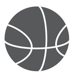 basketball glyph icon sport and equipment ball vector image