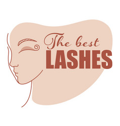 best lashes beauty studio extension eyelashes vector image