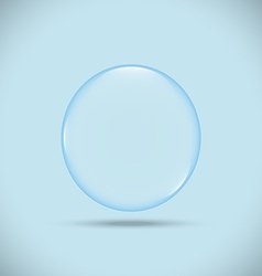 blue bubble vector image