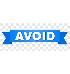 Blue stripe with avoid caption vector