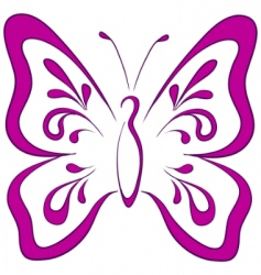 Butterfly pictograph vector