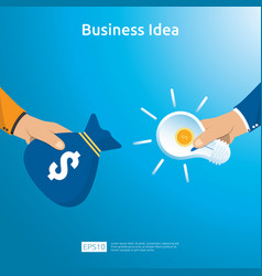 Buy and sell transaction business idea vector