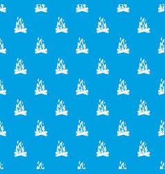 Campfire pattern seamless blue vector