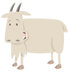 Cartoon goat animal character vector