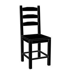 Chair black icon vector
