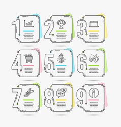 Chart laptop and new icons shopping cart vector