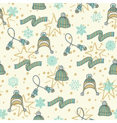 Christmas seamless pattern background vector image