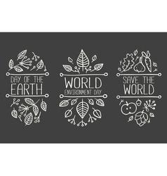 Climate Change Banner Set vector