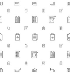 Clipboard icons pattern seamless white background vector