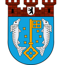Coat of arms of koepenick in berlin germany vector