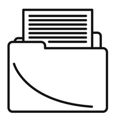 Course folder edit icon outline style vector