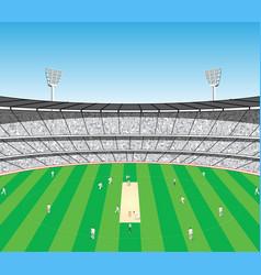 Cricket sports stadium vector