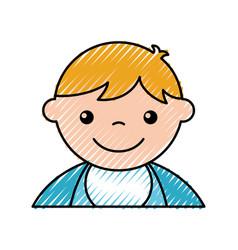 cute boy baby avatar character vector image