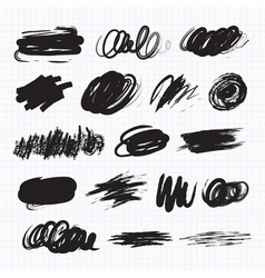 Dark blots Scribble stains vector