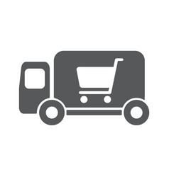 delivery truck icon vector image