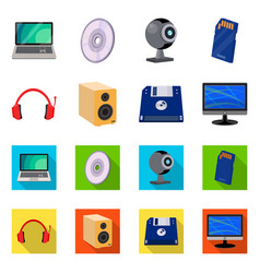 Design of laptop and device icon vector