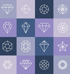 Diamonds and gems vector