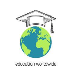 education worldwide vector image
