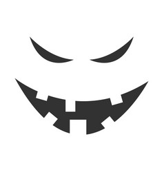 Evil ghost face vector