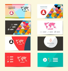 Flat Design Paper Business Card Template - Layout vector