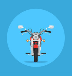 Flat style motorbike picture vector