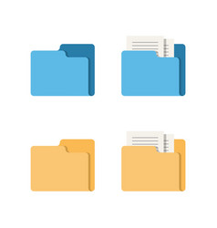 folder and documents icon isolated on white vector image