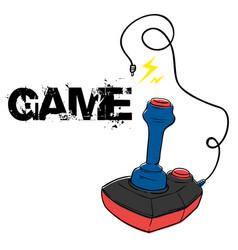 game joystick background image vector image