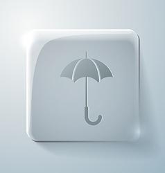 Glass square icon umbrella vector