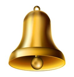 Golden bell vector image