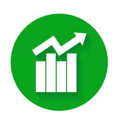 Growth bar chart icon vector
