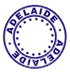 Grunge textured adelaide round stamp seal vector