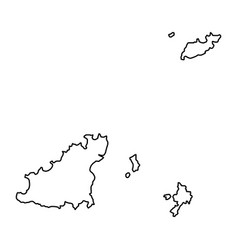 Guernsey map of black contour curves on white vector