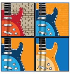 guitars vector image