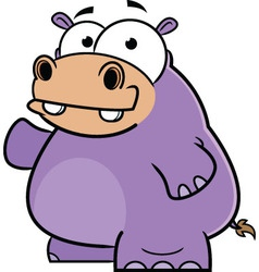 Happy Hippo Cartoon vector