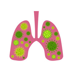 Infection in lungs coronavirus 2019-ncov vector