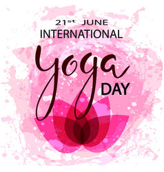 International day of yoga concept vector