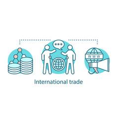 International trade concept icon vector