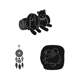 Isolated object of dreams and night logo vector