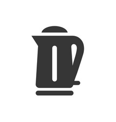 kettle teapot glyph single isolated icon vector image