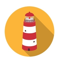 Lighthouse icon in flat style isolated on white vector