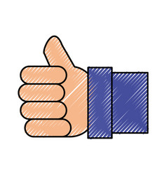 like thumb up symbol vector image