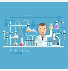 Medical Laboratory Conceptual vector
