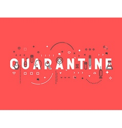 Medicine concept quarantine vector